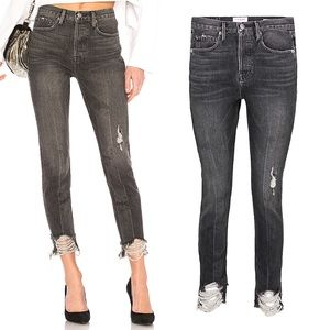 FRAME Rigid Re Release Skinny Ripped Hem Jeans